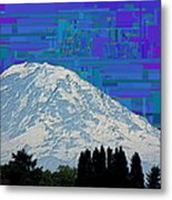 Da Mountain Cubed 1 Metal Print