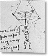 Da Vinci's Parachute Metal Print