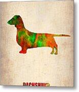 Dachshund Poster 2 Metal Print
