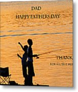 Dad Happy Father's Day Metal Print