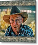 Dad In Cowboy Mood Metal Print
