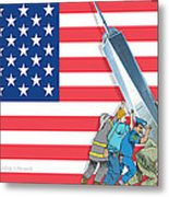 Daddys Home 9/11 Tribute Metal Print