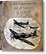 Dad's Flight Training Logbook Metal Print