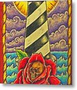 Dad's Lighthouse Metal Print