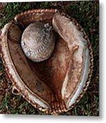 Dad's Old Ball And Glove Metal Print