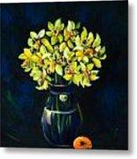 Daffodils And Fruit Metal Print