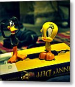 Daffy Tweety And Johnny Metal Print