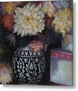 Dahlias Metal Print by Susan Hanlon