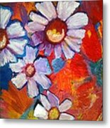 Daisies And Strawberries 2014 Metal Print