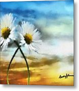 Daisies In Love Metal Print