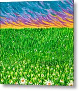 Daisies In The Park Metal Print