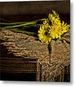Daisies On The Table Metal Print