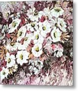 Daisy Blush Remix Metal Print