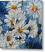 Daisy Cluster Metal Print
