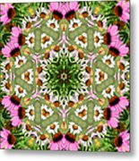 Daisy Daisy Do Kaleidoscope Metal Print