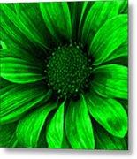 Daisy Daisy Neon Green Metal Print