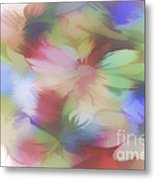 Daisy Floral Abstract Metal Print