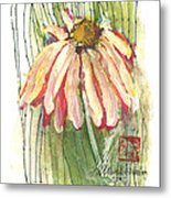 Daisy Girl Metal Print by Sherry Harradence