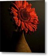 Daisy In Vase Metal Print