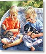 Dakotas Puppies Metal Print