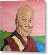 Dalai Lama Portrait Metal Print by Erik Franco