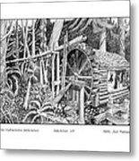 Water Wheel Alderbrook Hood Canal W A Metal Print
