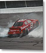 Dale Earnhardt Junior Victory Burnout Metal Print