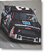 Dale Earnhardt Wins-wave To The Crowd Metal Print