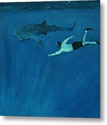 Dale Vs. The Whale Shark Metal Print by Patrick Kelly