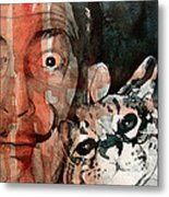 Dali And His Cat Metal Print by Paul Lovering