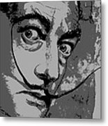 Dali In B W Metal Print