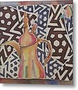 Dallah And Arabesque Motif Metal Print by Beena Samuel