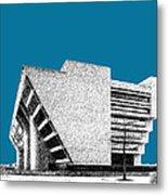 Dallas Skyline City Hall - Steel Metal Print