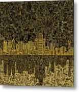 Dallas Skyline Abstract 3 Metal Print