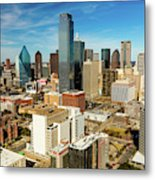 Dallas Skyline As Seen From Reunion Metal Print