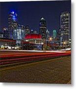 Dallas Skyline At Night Metal Print