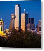 Dallas Skyline Metal Print by Inge Johnsson
