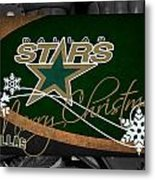 Dallas Stars Christmas Metal Print