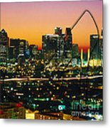 Dallas Texas Skyline In A High Heel Pump Metal Print