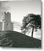 Dalmatian Stone Church On The Hill Metal Print by Brch Photography