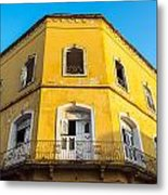 Damaged Colonial Building Metal Print