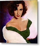 Dame Elizabeth Rosemond 'liz' Taylor - Featured In 'comfortable Art' Group Metal Print