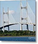 Dames Point Bridge Jacksonville Florida Metal Print
