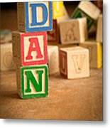 Dan - Alphabet Blocks Metal Print