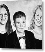 Dana And Curtis And Viktoria Metal Print