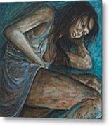 Danae Painting After Klimt Metal Print