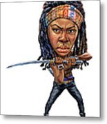 Danai Gurira As Michonne Metal Print