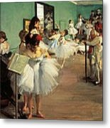 Dance Examination Metal Print by Edgar Degas