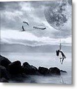 Dance In The Moon Metal Print