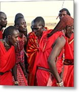 Dance Of The Maasai Metal Print